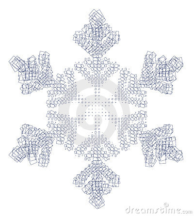 Snow flake and squares