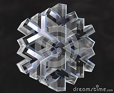 Snow flake symbols (3D)