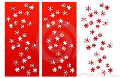 Snow Flakes Christmas Compositions