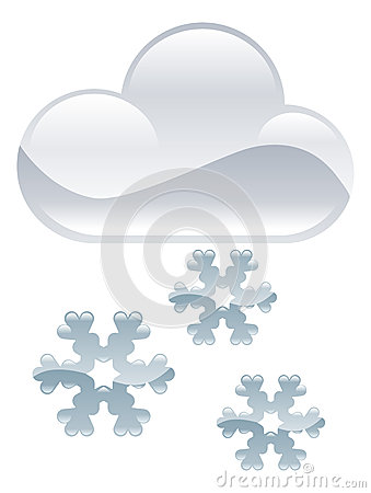 Snow flakes clouds illustration