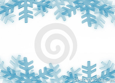 Snow flakes frame