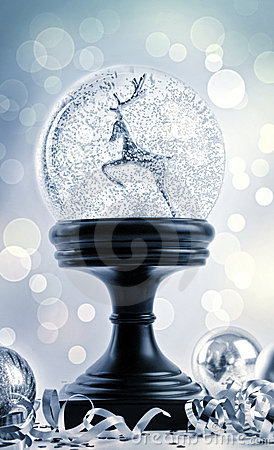 Snow globe with ornaments