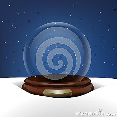 Snow Globe in Snow