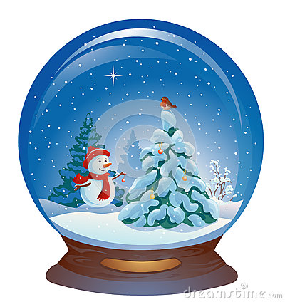 Free Snow Globe With A Snowman Royalty Free Stock Image - 61152046
