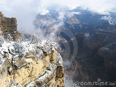 Snow at Grand Canyon