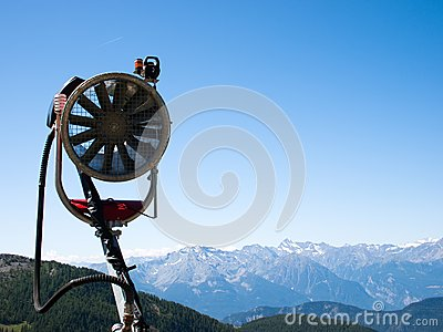 Snow Gun Royalty Free Stock Photos - Image: 13660978