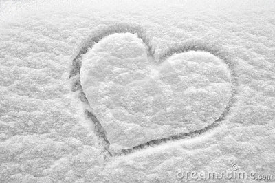 snow heart royalty free stock images image 12476019 Free Business Card Design Templates free clipart borders for business cards