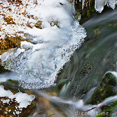 Snow, ice and flowing water 2