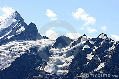 Snow and ice high in the Swiss mountains