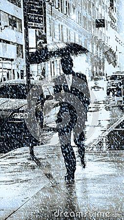Free Snow In New York City Stock Photos - 110366033