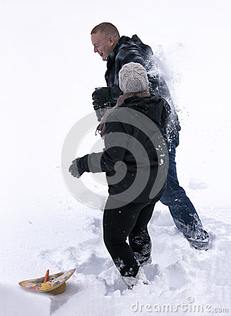 Snow klumpa ihop sig slagsmål