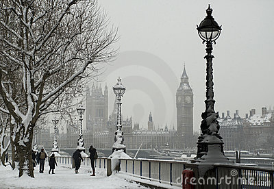 Snow London Editorial Image
