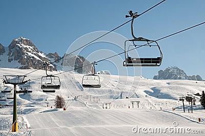 Snow mountain landscape (skilift, slope)
