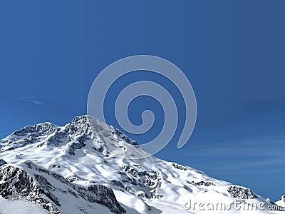 The snow mountain mountains