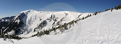 Snow mountain panorama