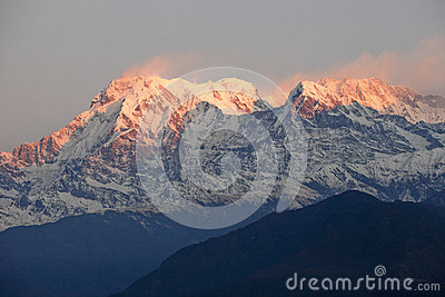 Snow Mountain of Sunrise