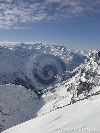 Snow mountain from top of titlis