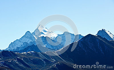 Snow mountains in Tibet