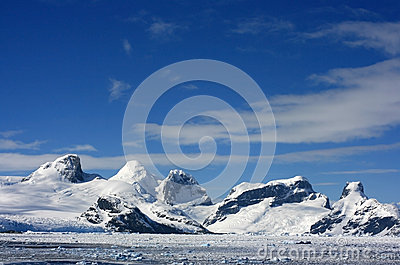Snow mountans in Antarctica