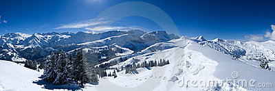 Snow Panorama Stock Images - Image: 574204