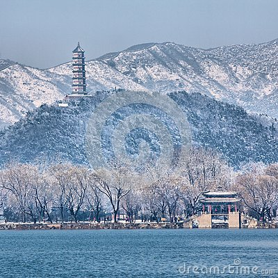 Free Snow Panorama Of Summer Palace, Beijing, China Stock Photos - 139888413