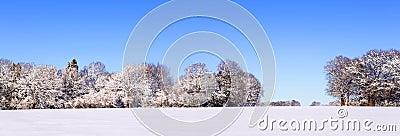 Snow panoramic landscape