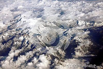 Snow peaks in Alps