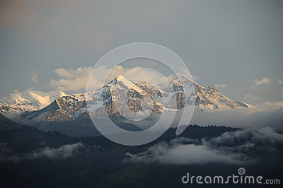 Snow peaks of Swiss Alps