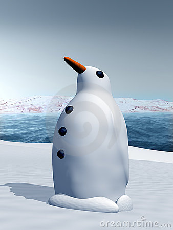 Snow penguin