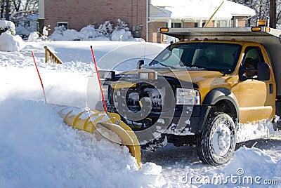The Snow Plow Stock Photo