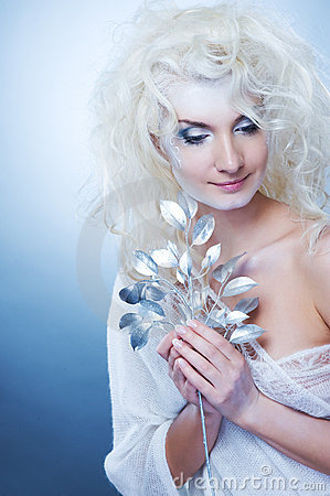 Free Snow Queen With A Magic Twig Royalty Free Stock Photo - 11994415