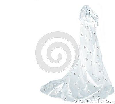 Free Snow Queen Woman On White Royalty Free Stock Photo - 1628195