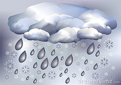 Snow and rain, weather