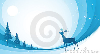 Snow Reindeer Blue