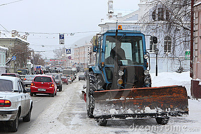 Snow-removal equipment Editorial Stock Photo