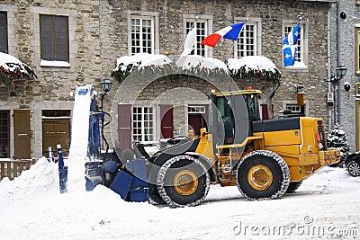 Snow removing vehicle - snowplow