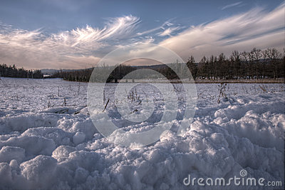 Snow scene in HDR