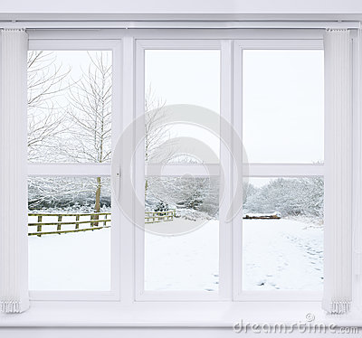 Free Snow Scene Window Royalty Free Stock Images - 44811699