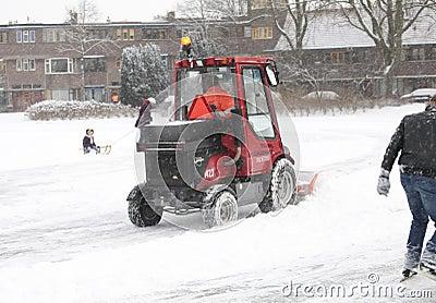 Snow shovel machine Editorial Photography