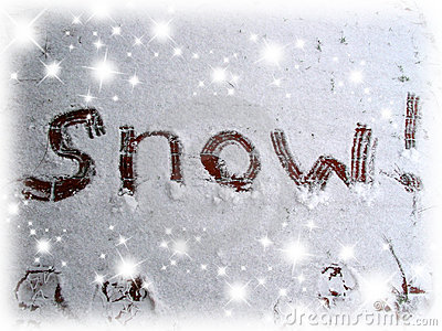 Beach Christmas Cards >> Snow Sign Royalty Free Stock Images - Image: 298429