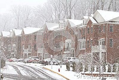 Snow storm in Fairfax