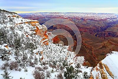 Snow Storm in Grand Canyon, AZ