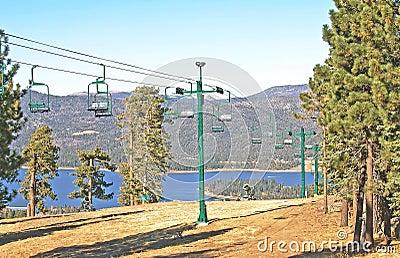 Snow Summit Chair Lift Stock Photo Image 56084176
