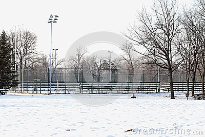 Snow tennis court
