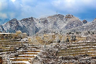 Snow terraces of beijing