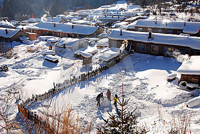 snow town,twin Peaks Xuexiang Forest