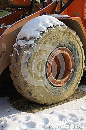 Snow on tyre