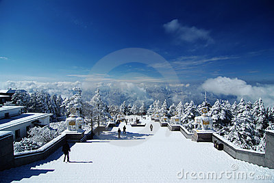Snow view of MT.Emei