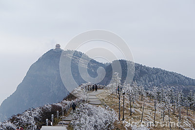 Snow view of MT.Emei Editorial Photography