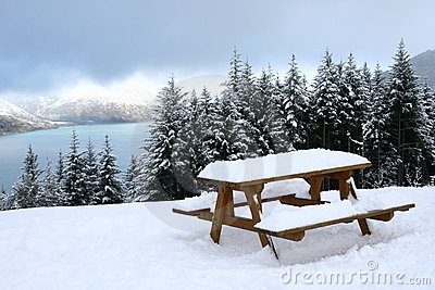 Snow view of Queenstown, New Zealand
